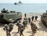 韩美启动海军陆战队联合演练