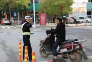 江西吉水交警积极组织开展创建省级文明城市迎检工作