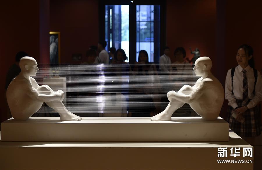 """(文化)(1)""""亚洲文明联展(艺术展):大道融通——亚洲艺术作品展""""在中国美术馆开幕"""