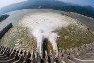 三峡大坝开闸泄洪