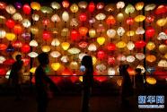 安徽黃山:多彩花燈迎中秋